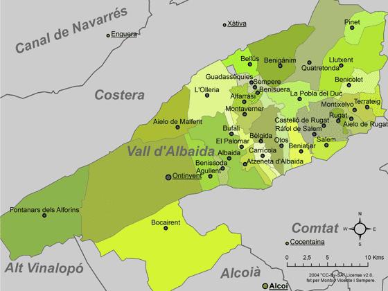 Certificado energético en La Vall d'Albaida