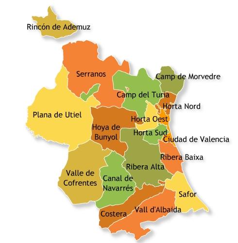 Comarcas-de-la-Provincia-de-Valencia Certificado Energetico