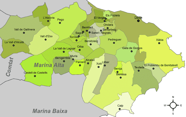Denia, Xàbia (comarca la Marina Alta)