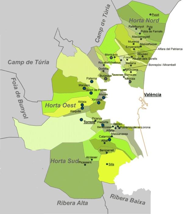 Comarca L'Horta Sud /Oest/Nord - Valencia