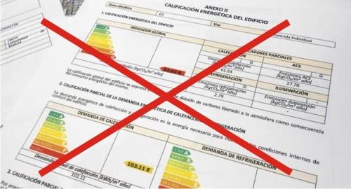 No me interesa el certificado energetico