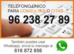 Telefono consultas o citas - Certificado Energetico