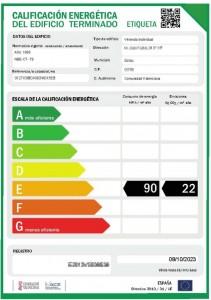 Modelo Oficial de etiqueta energetica obtenido en el Registro