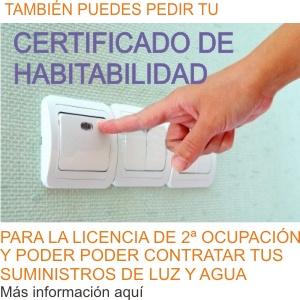 certificado de habitabilidad para licencia de segunda ocupacion
