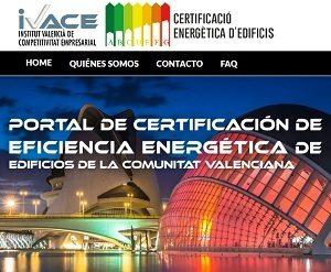 web registro Certificado Energetico Valenciana Alicante
