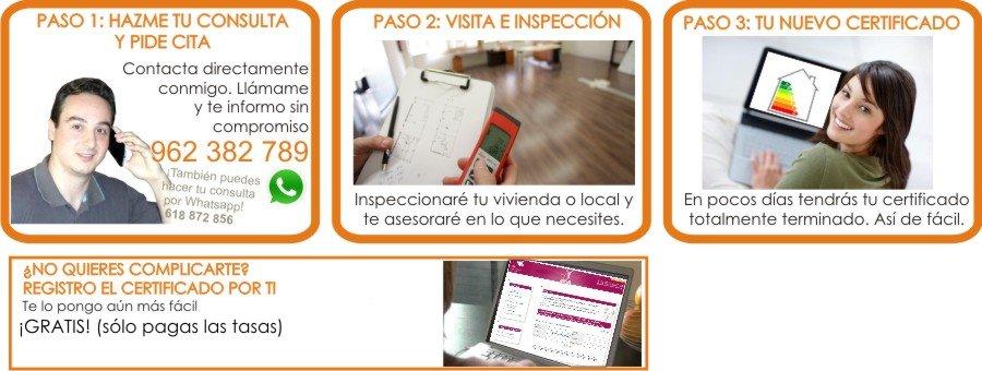 Tu Certificado Energetico en 3 pasos.