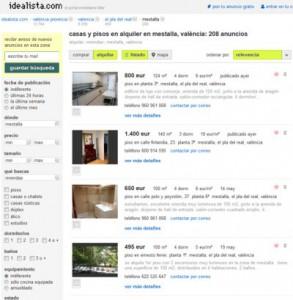 Busqueda realizada en Idealista.com