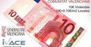 tasas certificado energetico comunidad valencinana