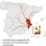 mapa españa hacer certificado energetico comunidad valenciana