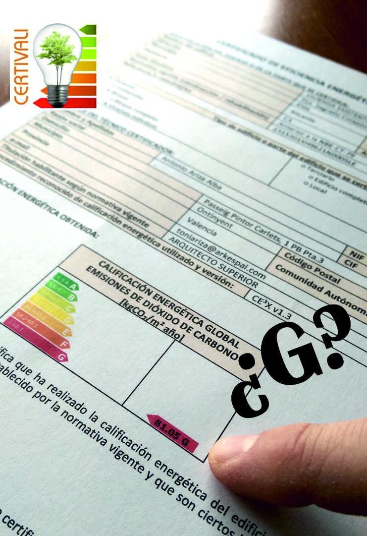 Certificado energetico G