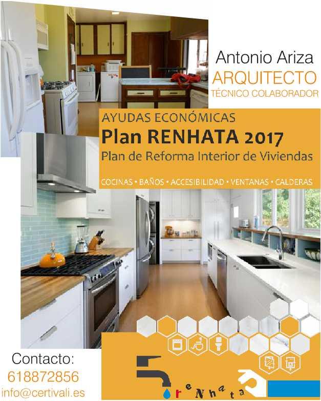 Plan Renhata Ayudas reforma vivienda - Antonio Ariza Tecnico colaborador