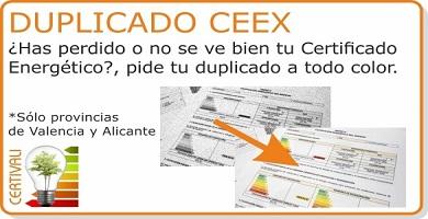 Acceso seccion Certificado Energetico Duplicado