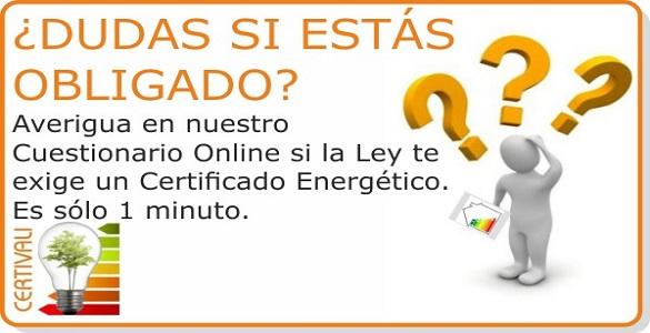 Acceso seccion Certificado Energetico Obligacion
