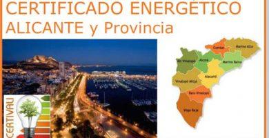 Acceso seccion Certificado Energetico Alicante