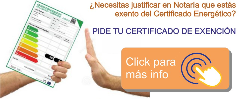 Llamada accion certificado exencion CEEX