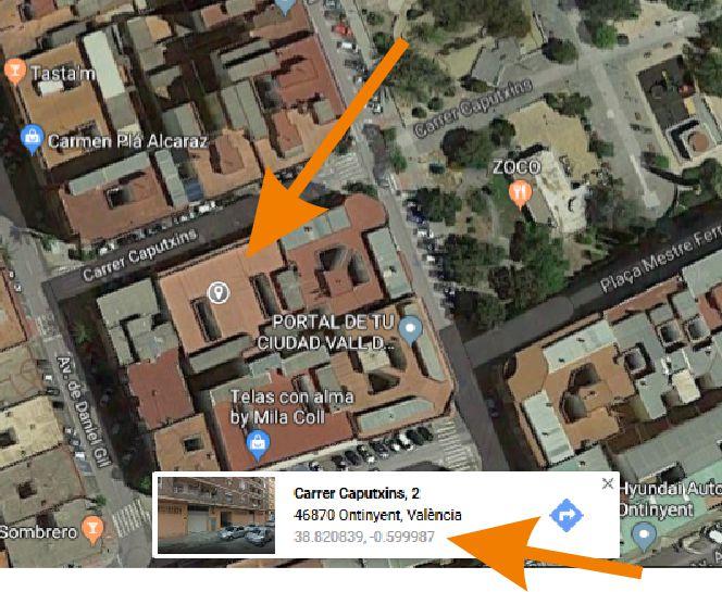 Ver las coordenadas de un inmueble en Google maps