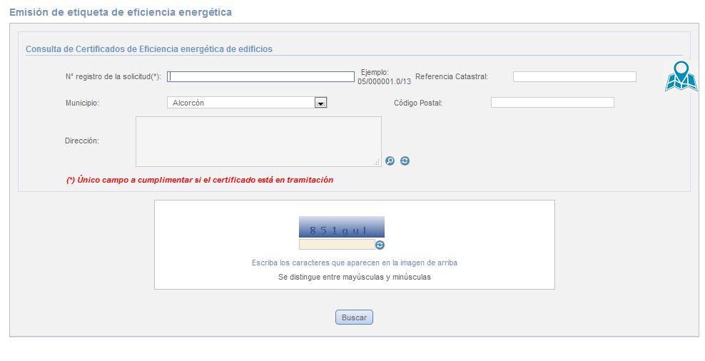 Descargar etiqueta energetica Comunidad de Madrid