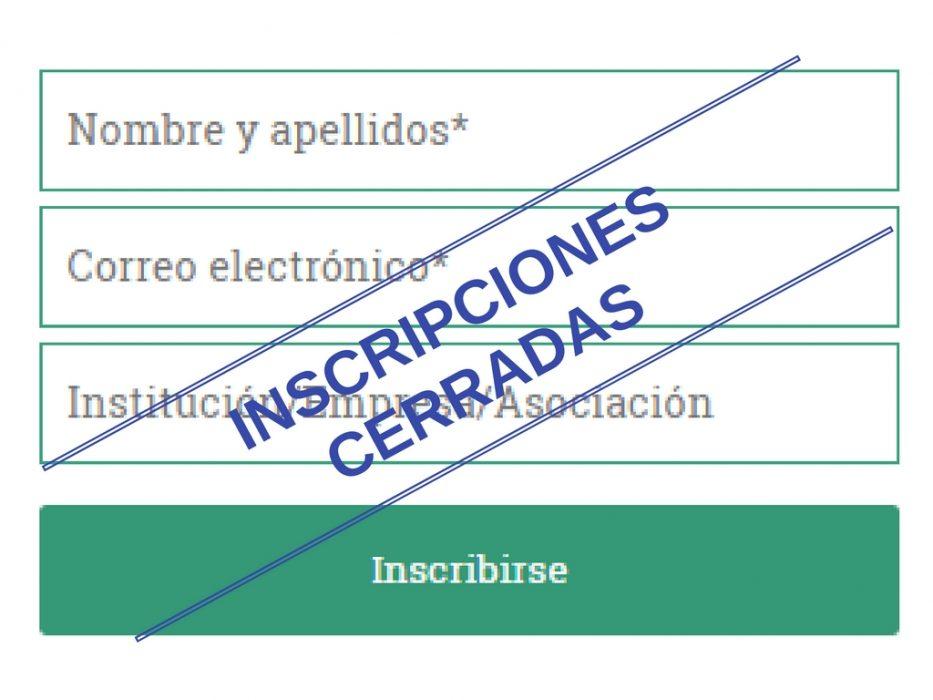 Formulario contacto Inscripciones cerradas